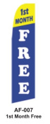HPP 11-1/2' X 2-1/2' Brand New Advertising Tall Flag-1st Month Free