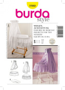 Burda Creativ Sewing Pattern 1980 for Bassinet Accessories