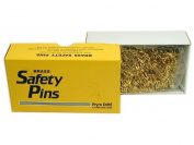 Prym Bulk Safety Pins Gilt Plated Brass Size 0- Gold colour - 10 gross box