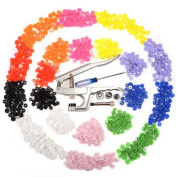 KAM Snap Pliers +150 Set T5 & 150 set T3 Snap Poppers Plastic Buttons 10 colours