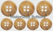 Horn Buttons for Suits or Blazers- Camel