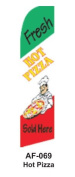 HPP 11-1/2' X 2-1/2' Brand New Advertising Tall Flag- Hot Pizza
