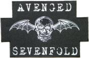 24cm X 15cm 9.5' Jumbo AVENGED SEVENFOLD Skull Bat Heavy Metal Rock Punk Music Band Logo Polo T shirt Back Patch Sew Iron...
