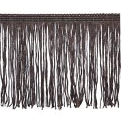 Chainette Fringe P-7044 100-Percent Polyester 10cm Fringe Embellishment, 10-Yard, 06 Brown