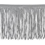 Chainette Fringe P-7044 100-Percent Polyester 10cm Fringe Embellishment, 10-Yard, 11 Silver