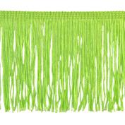 Chainette Fringe P-7044 100-Percent Polyester 10cm Fringe Embellishment, 10-Yard, 14 Lime