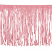Chainette Fringe P-7044 100-Percent Polyester 10cm Fringe Embellishment, 10-Yard, 20 Pink
