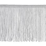 Chainette Fringe P-7044 100-Percent Polyester 10cm Fringe Embellishment, 10-Yard, 27 White