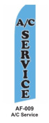 HPP 11-1/2' X 2-1/2' Brand New Advertising Tall Flag- A/C Service