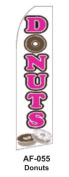 HPP 11-1/2' X 2-1/2' Brand New Advertising Tall Flag- Donuts