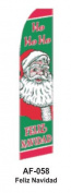 HPP 11-1/2' X 2-1/2' Brand New Advertising Tall Flag- Feliz Navidad