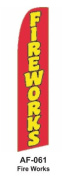 HPP 11-1/2' X 2-1/2' Brand New Advertising Tall Flag- Fire Works