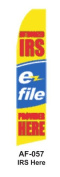 HPP 11-1/2' X 2-1/2' Brand New Advertising Tall Flag- IRS Here