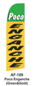 HPP 11-1/2' X 2-1/2' Brand New Advertising Tall Flag- Poco Enganche