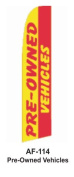 HPP 11-1/2' X 2-1/2' Brand New Advertising Tall Flag- Pre Owned Vehicles
