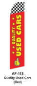 HPP 11-1/2' X 2-1/2' Brand New Advertising Tall Flag- Quality Used Cars