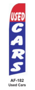 HPP 11-1/2' X 2-1/2' Brand New Advertising Tall Flag- Used Cars- 2