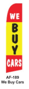 HPP 11-1/2' X 2-1/2' Brand New Advertising Tall Flag- we buy cars