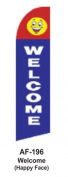 HPP 11-1/2' X 2-1/2' Brand New Advertising Tall Flag- Welcome