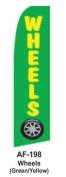 HPP 11-1/2' X 2-1/2' Brand New Advertising Tall Flag- Wheels