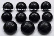 Black GENUINE LEATHER 11 piece BLAZER BUTTON SET