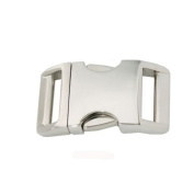Batz Corporation 1.6cm Aluminium Side Release Buckle - 10 Pack
