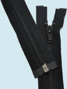 250cm Sleeping Bag Separating Zipper ~ YKK #5 Nylon Coil Zipper ~ Black