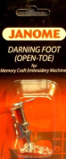 Janome Darning Foot (Open-Toe) for Memory Craft Embroidery Machines