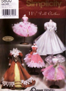 Simplicity 5800 - Doll Clothes for 29cm Fashion Doll - 5 Outfits