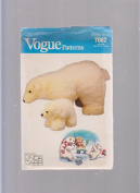 Vogue Polar Bear Plush Toy ; Sewing Pattern 7082