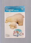 Vogue Polar Bear Plush Toy ; Sewing Pattern 7082