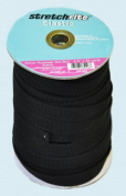Non-roll Elastic Stretchrite 1.9cm X 50 Yards Woven Polyester Black