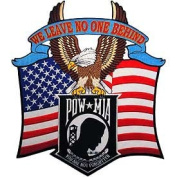 Pow Mia Patch We Leave No One Behind High Quality Embroidered Patch
