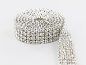 Sparkles Make It Special 4 Row Crystal Rhinestone Ribbon Wedding Cake Banding 2 yard
