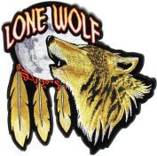 Lone Wolf Howling at the Moon Large Back Patch