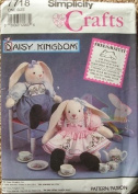 Simplicity Crafts Pattern 7718 Daisy Kingdom Sitting Bunny & Clothes