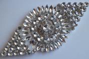 18cm Rhinestone Crystal Applique DIY Wedding Belt Sash Design