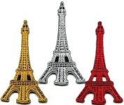 Lot of 3 Eiffel Tower Paris France Retro Boho Europe Appliques Iron-on Patches Cute Gift to Your Cloth.