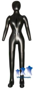 Inflatable Female Mannequin, Full-Size with head & arms Black