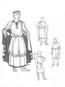 Men of Mediaeval Romanesque Period Pattern