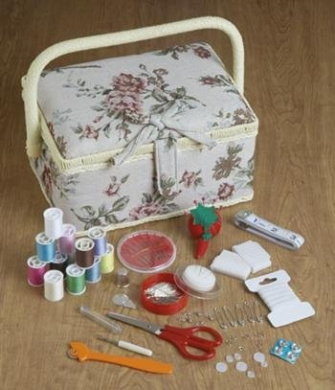 Home X Tapestry Sewing Basket With Accessories By Home X Shop Online For Arts Crafts In