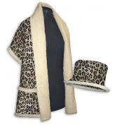 Daisy Kingdom Easy Cut and Sew Sherpa Style Kit, Leopard