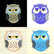 I0532 Cute Egg Owl Bird Sleep Animal Iron on Patch 52*67mm Embroidered Appliques Handmade From Thailand