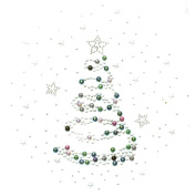 Rhinestone Iron on Transfer Hot Fix Motif Crystal Fashion Stars Trees Beautiful 3 Sheets 9.7* 27cm