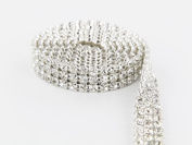 Sparkles Make It Special 3 Row Crystal Rhinestone Ribbon Wedding Cake Banding 3 yard