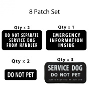 Creative Clam Service Dog Black Rectangle Combo 8-patch Set