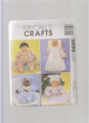 Christening Gown Baby Doll Clothes Sewing Pattern 3899 ; Size 20cm - 25cm , 28cm - 33cm , 36cm - 41cm
