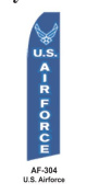 HPP 11-1/2' X 2-1/2' Brand New Military Advertising Tall Flag- U.S. Airforce