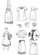 Nouville France Girl's Patterns Circa 1660-1760