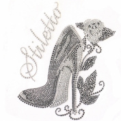 Rhinestone Transfer Hot Fix T-shirt Clothing Crafts Cushion High-heeled Shoes 3 Sheets 6.8* 21cm